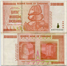 ZIMBABWE 50 BILLION DOLLARS 2008 P 87 USED CIRCULATED IN 100 TRILLION SERIES