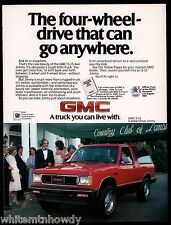 1984 GMC S-15 4-wheel drive Jimmy Red Truck AD