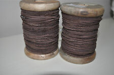 Danish Vintage Style Rustic Brown 100% Leather Yarn Ribbon String Tag -5mtr