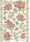 Ricepaper for Decoupage Decopatch Scrapbook Craft Sheet Red and White Peony