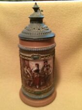 1/2L HR Hauber And Reuther Beer Stein 18/4.