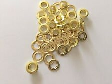 "100 #2 (3/8"") solid brass self piercing grommet 100 pair"