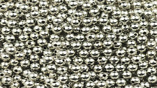 100 Nickel Plated Round Smooth Metal Beads 4MM
