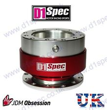 D1 SPEC UNIVERSAL STEERING WHEEL RACING QUICK-RELEASE RED JDM DRIFT