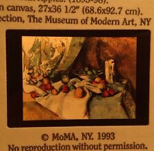"""Paul Cezanne """"Still Life With Apples"""" Cubist French Modern Art Slide"""