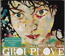 Group Love - Never Trust A Happy Song - CD (2011 Warner Australia Digipack)