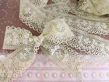 "5 yards Natural Beige 1.5"" Vintage Design Lace Ribbon/Craft/Trim/Bow/Wedding T1"