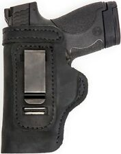 CUSTOM MADE HAND CUT&FIT LEATHER HOLSTER Black RH Right OWB/LH Left IWB SCCY 9MM