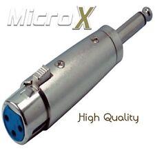 3 broches femelle xlr prise vers mâle 6.3mm mono jack plug adaptateur convertisseur