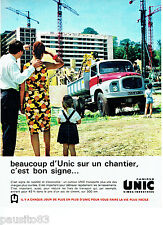 PUBLICITE ADVERTISING 066  1963  camions benne Unic Simca industries