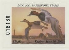 2000 North Carolina State Duck Stamp Mint Never Hinged VF Self Adhesive on Card