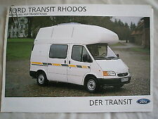 Ford Transit Rhodos Motorhome brochure 1998 German text