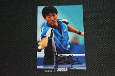 Oh sang-eun signed autographe 10x15 en personne tennis de table top ten ITTF Corée