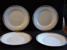 4 Luncheon Plates in Nebraska Blue by  J & G Meakin 9 Inch Diameter