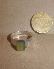 Vintage RING green 1980s Sterling Silver 925- NZ Estate