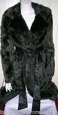 TOPSHOP boutique long premuim texturé en fourrure synthétique vert foncé coat uk 12 E40 us 8