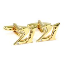 Goldfarbiges Nummer 21 Manschettenknöpfe Milestone 21. Geburtstag & AJ239