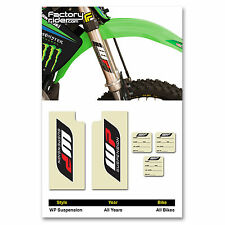 WP Suspension Fork STICKERS GRAPHICS  fit all Motocross Bikes!