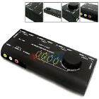 4-WAY AV SWITCHER BOX 3-RCA RED YELLOW WHITE S-VIDEO AUDIO SELECTOR SWITCH RGB