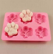 3D Katze Hundetatzen Silikon Fondant Mould Marzipan Tortendeko Mould Backzubehör