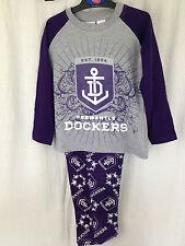 BNWT Boys Sz 3 AFL Fremantle Dockers Long Flannel/Jersey Winter Style PJ Pyjamas