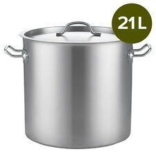 Factory second 21Lt Top Grade Thick Stainless Steel Stock Pot 30CM 18/10