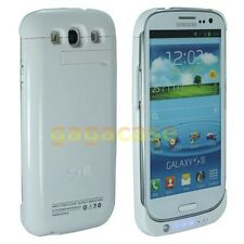 White UltraSlim Extended Battery Case Cover Backup Power Samsung Galaxy S3 S III