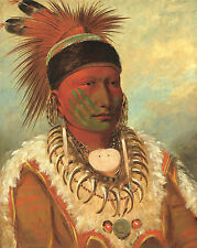 George Catlin's Indian Gallery: White Cloud - Fine Art Print