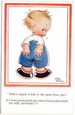 Mabel Lucie Attwell Artwork Postcard Little Boy Got a Kick in the Pants~105985