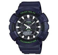 Casio Classic Watch * ADS800WH-2A Tough Solar Anadigi XL Blue Resin COD PayPal