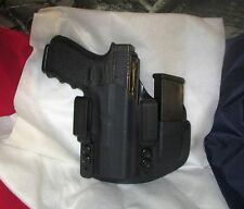 CUSTOM Kydex IWB Holster with extra Mag Carrier for Glock 19