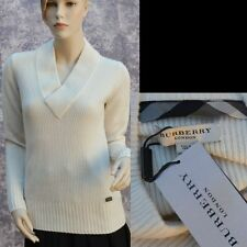 BURBERRY LONDON New sz XL 100% Cashmere Authentic Designer Womens Top Sweater