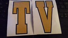 Lambretta TV Gold Legshield Flyscreen Graphic Decals 60's Style