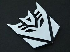 Chrome Transformer Decepticon Boat Car Truck Motorcycle Badge Emblem