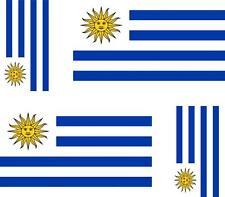 4x Adhesivo adesivi pegatina sticker vinilo bandera vinyl moto coche uruguay