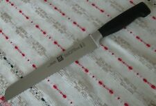 "ZWILLING J.A. HENCKELS FOUR STAR 8"" CHEF'S BREAD KNIFE BLACK, GERMANY NEW"
