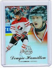 14-15 2014-15 FLEER SHOWCASE DOUGIE HAMILTON FLAIR ROW 2 SEAT 12 BOSTON BRUINS