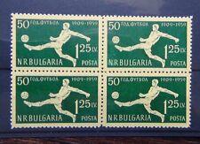 Bulgaria 1959 50th Anniversary of Football in Bulgaria in block x 4 MNH
