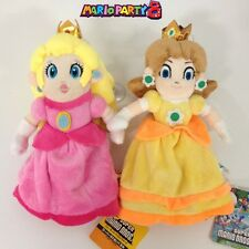 2X New Super Mario Bros. Plush Princess Peach Daisy Soft Toy Stuffed Animal 9""