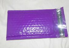 100 Purple 4x8 Poly Bubble Mailers, Quality Padded Shipping Mailing Envelopes