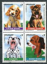 URUGUAY 1999 DOMESTIC DOGS MINT SET OF 4 STAMPS - $7.50 VALUE!
