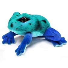 13cm Blue Frog Soft Cuddly Plush Toy - Gift Idea - Suitable for all ages (0+)