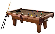 New Fat Cat 7 Foot Frisco II Billiard Pool Table Brown Wool Cloth Balls Sticks