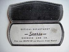 Vintage Sears Optical Dept. Advertising Print In The Shape of Glasses Case *