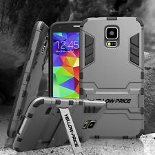 Samsung Galaxy S5 Case Cover Armor Kickstand Shockproof Dual Layers Hybrid Skin