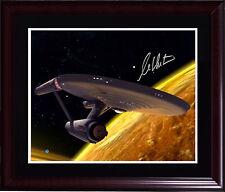 William Shatner Cpt Kirk Signed 16x20 star trek photo auto framed Steiner COA