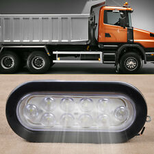 "Truck Trailer 3"" Oval White LED Stop Turn Tail Side Marker Light Surface Mount"