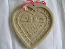 Brown Bag Cookie Art 1993 HEART w/ BIRDS Mold Hill Design