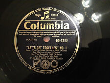 "THE BIG BEN BANJO BAND ""Let's Get Together"" No.1 (medley)  78rpm 10"" 1955  EXC"