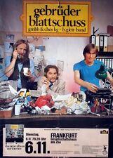 GEBRÜDER BLATTSCHUSS - 1979 - Konzertplakat - gmbh & chor kg - Tourposter
